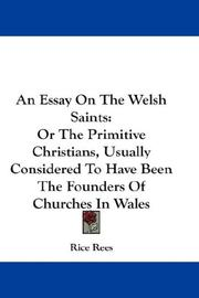 Cover of: An Essay On The Welsh Saints