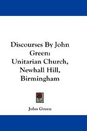 Cover of: Discourses By John Green