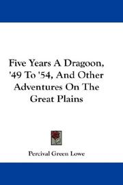 Cover of: Five Years A Dragoon,