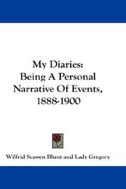 Cover of: My Diaries | Blunt, Wilfrid Scawen