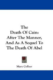 Cover of: The death of Cain