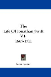 Cover of: The Life Of Jonathan Swift V1
