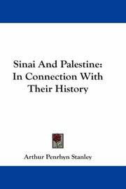 Cover of: Sinai And Palestine | Stanley, Arthur Penrhyn