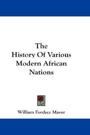 Cover of: The History Of Various Modern African Nations