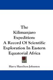 Cover of: The Kilimanjaro Expedition