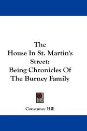 Cover of: The House In St. Martin's Street