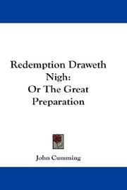 Cover of: Redemption Draweth Nigh