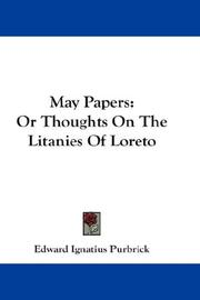 Cover of: May Papers | Edward Ignatius Purbrick
