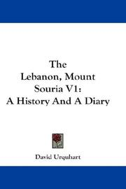 Cover of: The Lebanon, Mount Souria V1