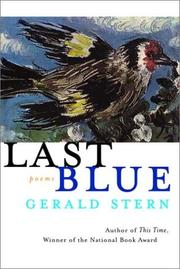 Cover of: Last Blue | Gerald Stern