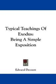 Cover of: Typical Teachings Of Exodus