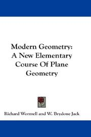 Cover of: Modern Geometry | Richard Wormell