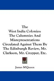 Cover of: The West India Colonies | James M