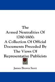 Cover of: The Armed Neutralities Of 1780-1800