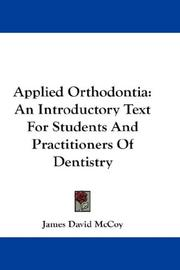 Cover of: Applied orthodontia