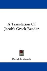 Cover of: A Translation Of Jacob