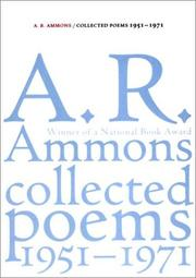 Cover of: Collected Poems 1951-1971 | A. R. Ammons