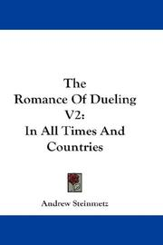 Cover of: The Romance Of Dueling V2