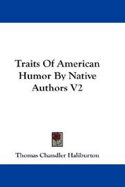Cover of: Traits Of American Humor By Native Authors V2