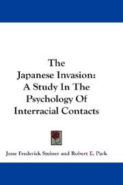 Cover of: The Japanese Invasion | Jesse Frederick Steiner