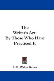 Cover of: The Writer's Art