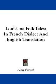 Cover of: Louisiana Folk-Tales | Alcee Fortier