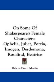 Cover of: On Some Of Shakespeare