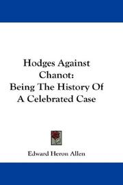 Cover of: Hodges Against Chanot