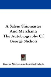 Cover of: A Salem Shipmaster And Merchant