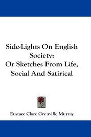 Cover of: Side-lights on English society