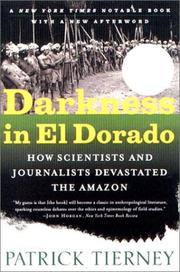 Cover of: Darkness in El Dorado | Patrick Tierney