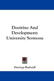 Cover of: Doctrine and development