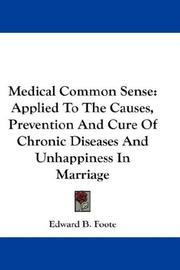 Cover of: Medical Common Sense