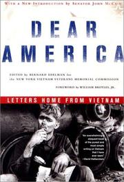 Cover of: Dear America | Bernard Edelman