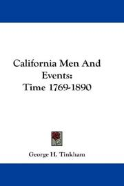 Cover of: California Men And Events