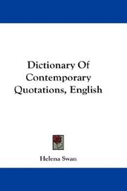 Cover of: Dictionary Of Contemporary Quotations, English