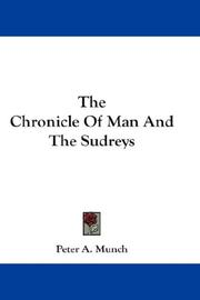 Cover of: The Chronicle Of Man And The Sudreys | Peter A. Munch