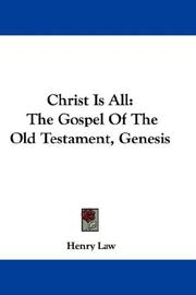 Cover of: Christ Is All