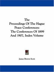 Cover of: The Proceedings Of The Hague Peace Conferences