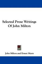 Cover of: Selected Prose Writings Of John Milton