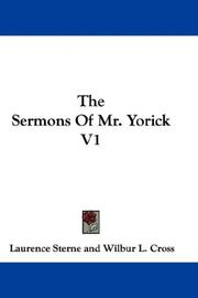 Cover of: The Sermons Of Mr. Yorick V1