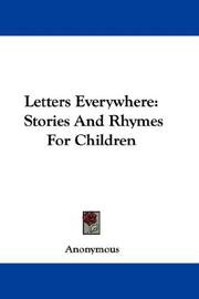 Cover of: Letters Everywhere | Anonymous