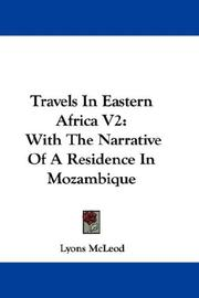 Cover of: Travels In Eastern Africa V2 | Lyons McLeod