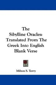 Cover of: The Sibylline Oracles