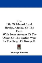 Cover of: The Life Of Edward, Lord Hawke, Admiral Of The Fleet