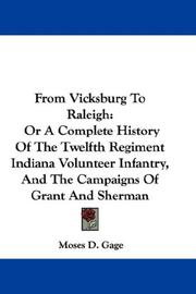 Cover of: From Vicksburg to Raleigh