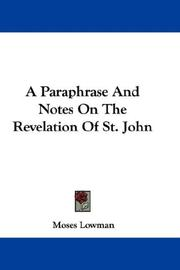Cover of: A Paraphrase And Notes On The Revelation Of St. John