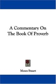 Cover of: A Commentary On The Book Of Proverb