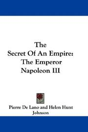 Cover of: The Secret Of An Empire | Pierre De Lano