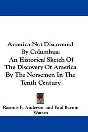 Cover of: America Not Discovered By Columbus